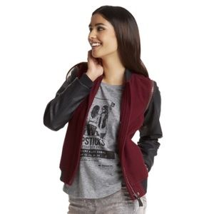 PLL x Aero Wool Faux Leather Vest Bomber Jacket